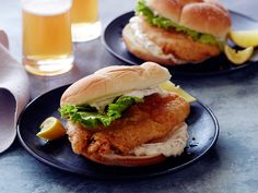 Look at this recipe - Fried Fish Sandwich - from Jeff Mauro and other tasty dishes on Food Network. Tilapia Recipes, Fish Recipes, Seafood Recipes, Grouper Recipes, Seafood Dishes, Salmon Recipes, Pan Fried Tilapia, Fried Fish, Crusted Tilapia