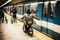 Corey Martinez with backpack Lucien   #RideGaston #Gaston #backpack #checked #coreymartinez #bmx #rider #ride #bmxlife #subway #street