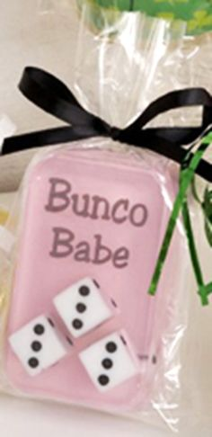 Bunco babe with dice inside glycerin soap bar by shopfunsoap, $4.95