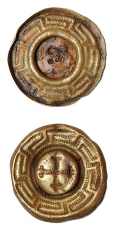 Copper alloy mount. Date: (?). Dimensions: diameter: 20,9 mm, thickness: 2,3 mm. Weight: 0,9 g. Found: Lancashire 2016.  #metaldetecting # 0375