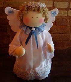 Resultado de imagem para anjo da guarda em feltro/tecido