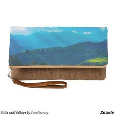 Hills and Valleys Clutch Bag