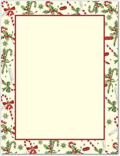 Free Printable Christmas Borders:
