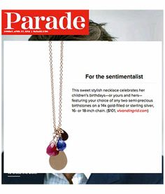 viv&ingrid 2-birthstone paillette charm necklace ** AS SEEN IN PARADE** Ultimate Mother's Day Gift Guide vivandingrid.com #mothersday #giftguide