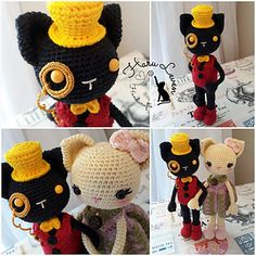 Kitty Doll ~Lord Jack & Lady Clementine~ Free pattern by Haru Leven Handicrafts.