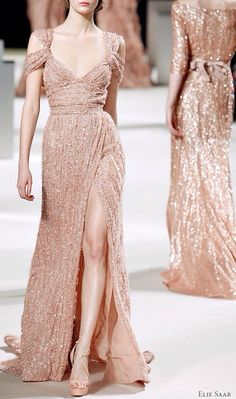 Elie Saab Spring - another blush number to sway you from the traditional ivory.