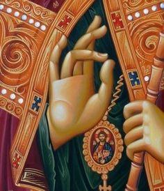 ΑΓΙΑ ΕΥΧΗ! Religious Icons, Religious Art, Icon Clothing, Biblical Art, Orthodox Christianity, Byzantine Icons, Art Icon, Retro Pattern, Orthodox Icons