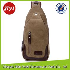 New Arrival Men's One Shoulder Strap Triangle Backpack Chest Bag from China