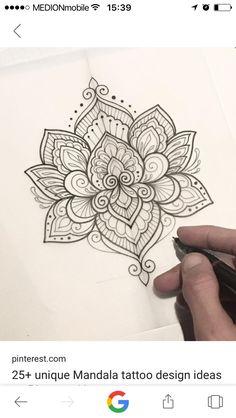 Lotus mandala tattoo - 40 Simple Mandala Art Pattern And Designs – Lotus mandala tattoo Mandala Tattoo Design, Mandala Art, Dotwork Tattoo Mandala, Mandala Rose, Mandalas Drawing, Lotus Tattoo, Tattoo Designs, Art Designs, Lotus Mandala Design