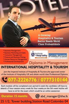 Diploma in Management for International Hospitality and Tourism  Diploma in Management for International Hospitality and Tourism