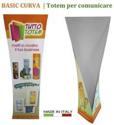 BASIC CURVA, Nuovo, originale,  dal design accattivante: il totem curvo!