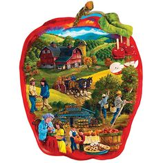 Apple Festival 750 Piece Shaped Jigsaw Puzzle $11.99 --  their are many, many Apple Festivals in our country but did not find a photo from the one we have attended in Murphysboro, IL