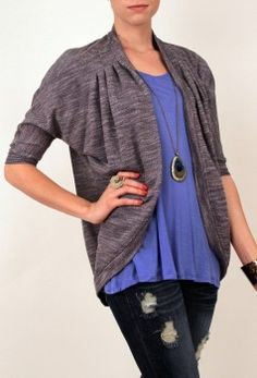 Always did like the sloped cardigans. Shrug Cardigan, Open Cardigan, Stitch Fix, Cardigans, Sweaters, Curvy, Fancy, My Style, How To Wear