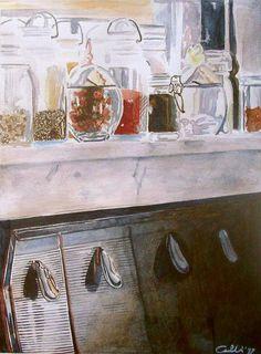 """""""Drogheria"""" 1997 (15,5 x 21 watercolour on paper) https://www.facebook.com/Riflessi-e-trasparenze-di-Germana-Galdi-152645784768295/"""