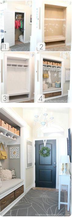 Converting Unused Closet into a Custom Mudroom Nook! by corrine