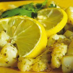 Seppioline con emulsione di patate, prezzemolo e limone - Fresco Pesce