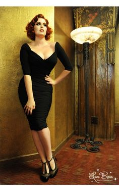 f5d3b39ea0 Laura Byrnes California Monica Vintage Style Dress in Black. Pin Up ...