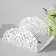 100pcs  Lace invitation pockets by WeddingFavorStore on Etsy $190.00