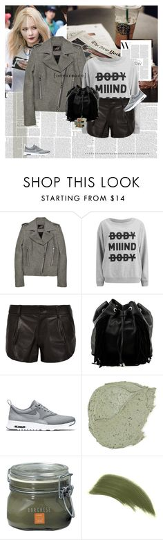"""03.13"" by e-laysian ❤ liked on Polyvore featuring Isabel Marant, Cheap Monday, Alice + Olivia, Steve Madden, NIKE, Borghese, By Terry and Smashbox"