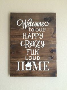 Welcome Sign Wood Sign Pallet Sign Welcome To Our Home Hand Painted Home Decor Wall Decor Rustic Home Sign Welcome