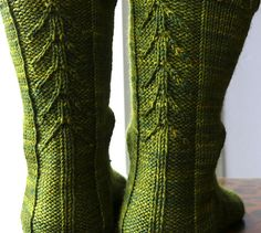 I created this pattern for an outdoorsy, tree-hugging friend. I wanted a sock that was special but not too fussy.