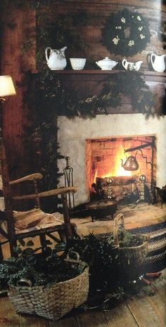 Warm and cozy safe secure loved at dusk i batten the hatches for the night , turn on the lights and light the fire, we are home at last Witch Cottage, Witch House, Cozy Cottage, Primitive Christmas, Country Christmas, Vintage Christmas, Deco Nature, O Gas, Keeping Room
