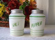 Vintage Milk Glass Salt and Pepper Shakers Range by CynthiasAttic