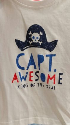 Primark boys tshirt captain awesome