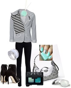 """Mirrored Turquoise"" by karalexislv on Polyvore"
