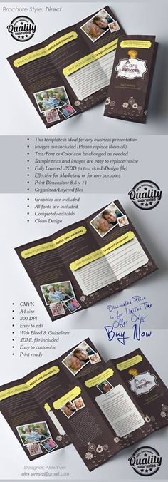 Brochure Trifold, Text Fonts, Tech, Organization, Templates, Marketing, Facebook, Getting Organized, Organisation