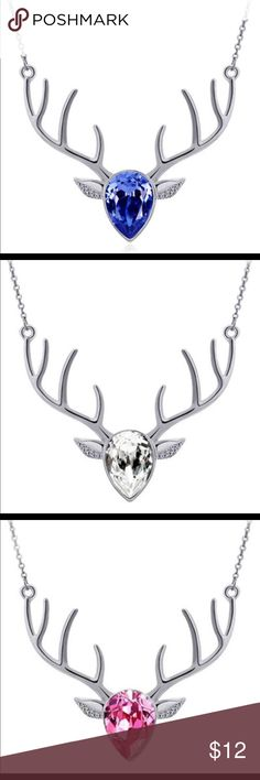 "GREAT GIFTS! DEER HEAD CRYSTAL NECKLACES NWT These are all silver with various crystal colors for the face. Adorable! The pendant itself is about 2.36"" and the necklace is approx 19.69"". All NWT. These make precious gifts for friends, teachers or you! Jewelry Necklaces"