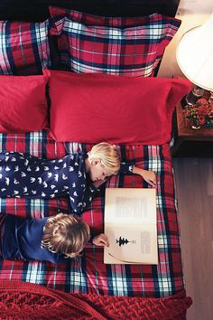 5oz Flannel Plaid Duvet Cover from Lands' End