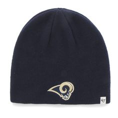 b26e59facdef3 St. Louis Rams 47 Brand Navy Knit Beanie Hat Cap. Los Angeles ...