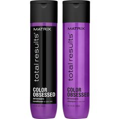 Matrix Total Results Color Obsessed Shampoo (300ml), Conditioner... ($35) ❤ liked on Polyvore featuring beauty products, haircare, hair shampoo, matrix hair care and matrix hair shampoo