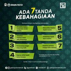 7 Tanda Kebahagiaan  #nasehat #ulama #ahlussunnah #asysyathibi Hijab Quotes, Muslim Quotes, Islamic Quotes, Quotations, Qoutes, Smoke Bomb Photography, Doa Islam, Islamic Teachings, Self Reminder