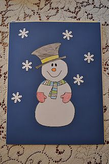 Folder with idea of snow things to send to sponsored children