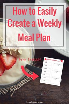 Are you looking to feel more organized?  Creating a weekly meal plan binder will help you reduce meal planning stress!  This looks super easy!