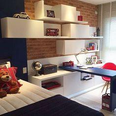 Para eles, um quarto cheio de estilo e lindo. Amei... ❤️ {Projeto…