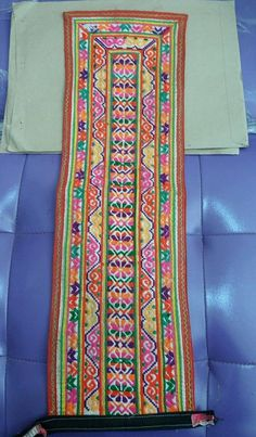 VINTAGE Hmong Textile    Embroidery Hmong Tapestry   by PakoModern