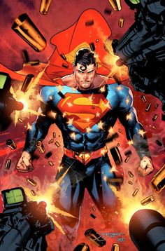 [Cover] Superman variant (Rebirth) By Jorge Jimenez and Alejandro Sanchez - Color version - DCcomics Arte Do Superman, Mundo Superman, Superman Artwork, Superman Wallpaper, Superman Pictures, Superman Comic Books, Comic Book Characters, Comic Books Art, Man Of Steel