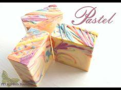 "Making & Cutting ""PASTEL"" Handmade Soap ~ Petals Bath Boutique - YouTube"