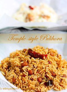 Temple-style pulihora Tamarind Rice