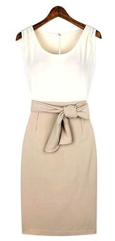 Bodycon tank dress slit pencil skirt
