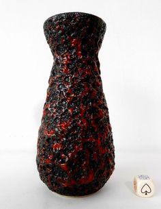 Jopeko 70s Vintage German Mid Century Modern Pop Art Space Age Fat Lava Vase. #Vases