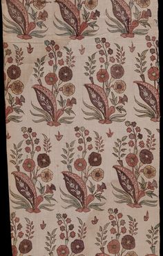 Fragment of painted, dyed and block-printed cotton chintz, India, mid 17th century