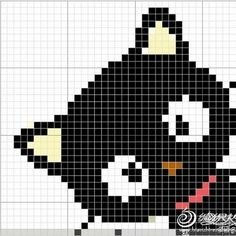 Crochet or cross stitch pattern ~ Black cat Cross Stitching, Cross Stitch Embroidery, Embroidery Patterns, Hand Embroidery, Knitting Charts, Baby Knitting, Knitting Patterns, Crochet Patterns, Crochet Pixel