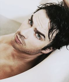 Ian Somerhalder Strips Down For New Photo-shoot Dani Strehle Staff Writer WARNING! What you're about to see may cause inexplicable squealing and hot flashes: Vampire Diaries hunk Ian Somerhalder. The Vampire Diaries, Vampire Dairies, Vampire Diaries The Originals, Nikki Reed, Damon Salvatore, Nina Dobrev, Louisiana, Christian Grey, Eminem