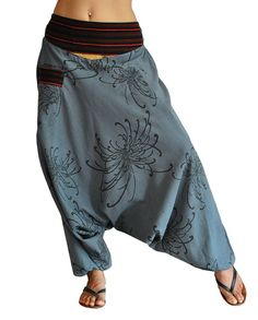 Amazon.com: Bonzaai Women's Harem Pants Pattern Yoga Pants Traumtanzer Hippie Pants Grey: Clothing