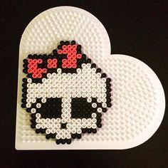 Monster High skull hama beads by sarawibbsdesign