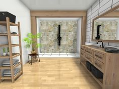 The rough and rustic bathroom design 😉 Rustic Bathroom Designs, Bathroom Styling, Furniture, Home Decor, Style, Swag, Decoration Home, Room Decor, Home Furnishings